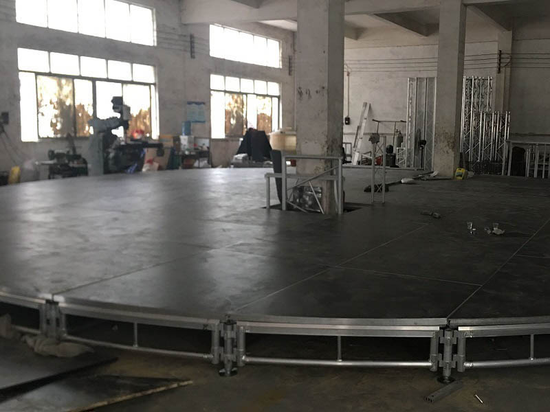 building portable stage platforms