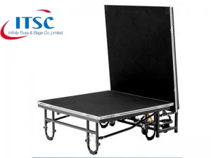 4 x 8 ft Steel Deck folding Portable stage