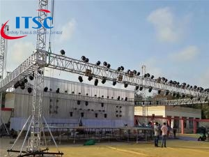 60 foot Cheap Price Aluminum heavy flat roof stage truss
