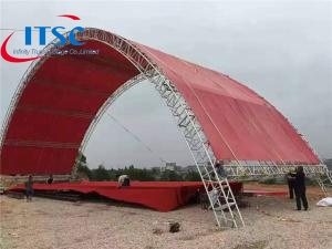 65 foot  Aluminum Tunnel Roof Trusses System Structure