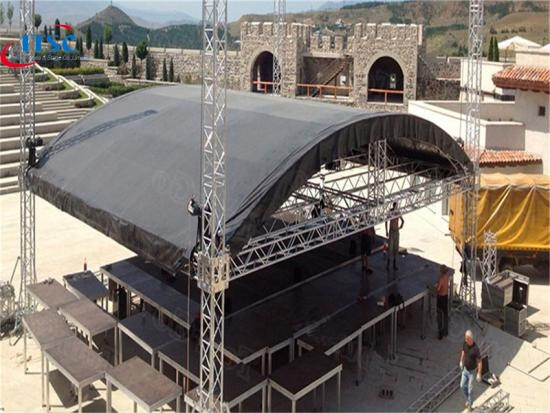 8 M Curved Roof Stage Lighting Trusses Systems 8 M Curved Roof Stage Lighting Trusses Systems Factories