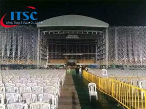 60 foot heavy duty curved roof Stage Trusses system
