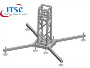 Steel Base plate with wheels for Spigot Truss Roof