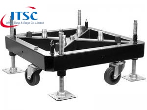 truss Steel plate base with wheels for roof truss