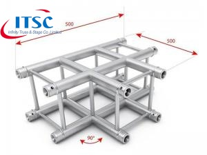 3 Way T-shape Square Truss Corner  for Advertiser