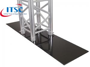300 x 1000 MM Rectangle Black Steel Base Plate
