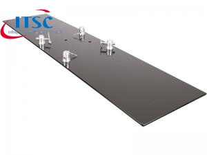 black steel base plate
