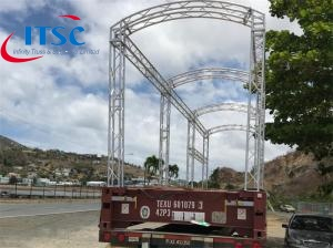 8 ft small lightweight Curved roof lighting truss system