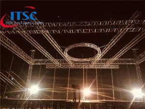 32 foot round ceiling flat roof lighting trusses