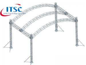 Aluminum alloy Architecture Arc Truss Roof  System with PVC