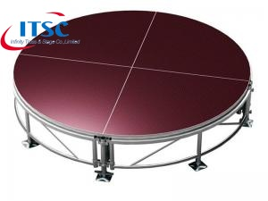 8ft Dia Round Stage with 4x4ft Aluminum Portable Stage Kits
