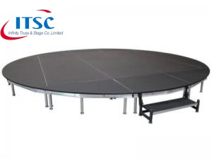 Portable stage platforms quad