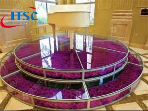 3m Dia Portable Glass  Round Wedding Stage