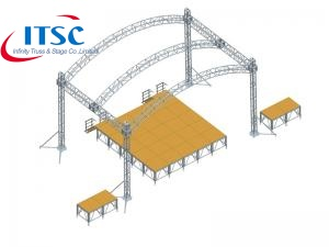 32 FT  Architecture Curved Roof Truss System with PVC