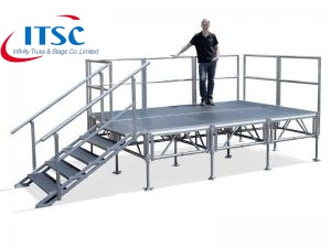 Portable Stage Guardrail for 4x4ft and 4x8ft decks -ITSC Truss