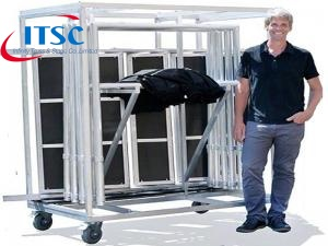 Portable stage trolley for topping -ITSC Truss