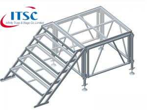 Stairs for Aluminium Arcrylic Stages -ITSC Truss