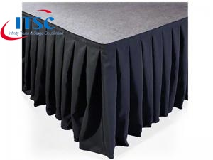 Box Pleat Stage Skirting for Portable Foldable Stages