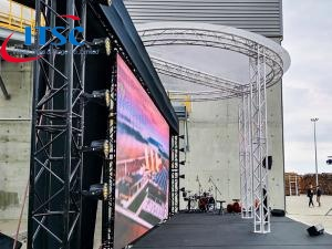 4m Dia Circular Flat Roof Trusses Structure for Screens