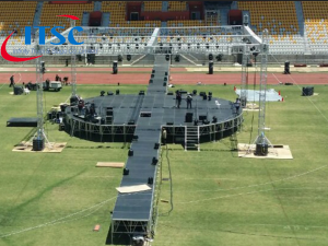 Catwalk Round Stage with Aluminium Portable Stage 4x4ft