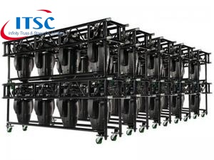 Heavy Duty Black Pre-rig moving light truss with TUVE certificates