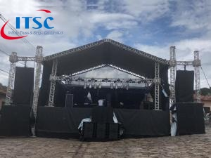stage truss roof system