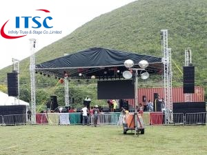 12m Aluminium Triangular Roof Stage Truss  System