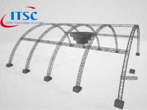 31m W Heavy Duty Outdoor Tunnel  Roof Stage System