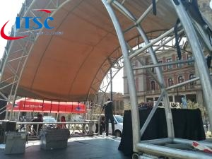 6m Temporary Tunnel Stage Roof For Festival Events