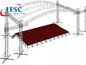 7x3m Small Portable Stage Curved Box Truss Roof