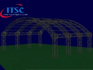 curved aluminum truss