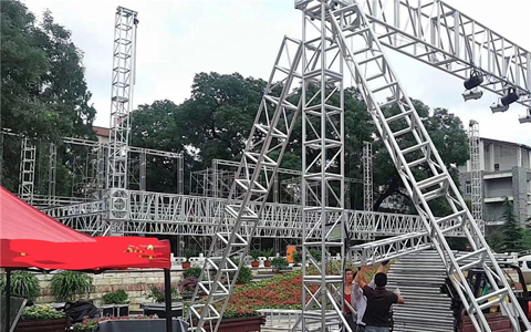 Aluminum lighting Truss for sale is under construction in Beijing for 2020 New Year Celebration