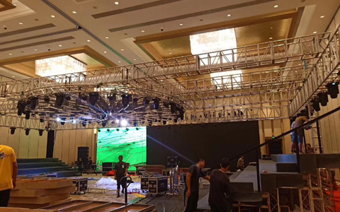 Portable Lighting Truss for SiKe Activity in Guangzhou LangHao Hotel