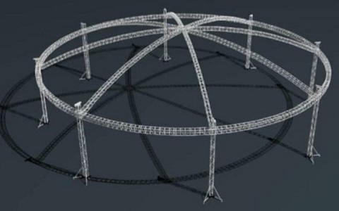 Ground Support Circular Truss Roof System