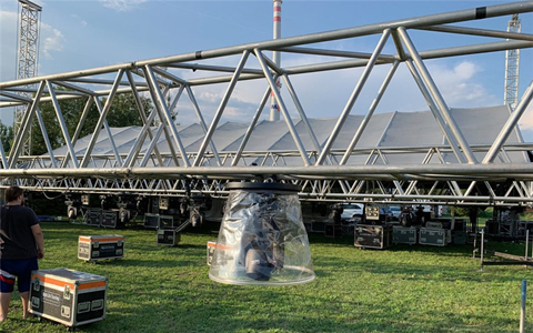 Aluminum roof truss strucuture oudoor setup in Slovakia to Celebrate 2020 New Year