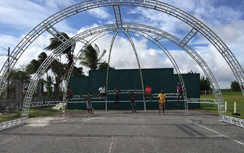 Dome Truss frame structure in Nigeria for out door churches events