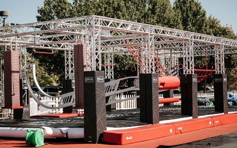 Ninja Obstacle Course Truss Structures for gym for sale