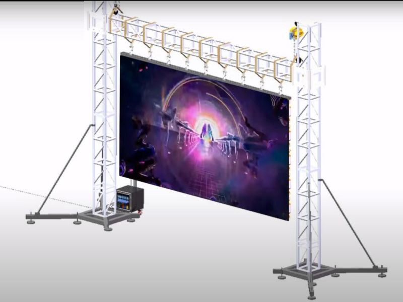 How to install LED Screen  Wall Truss Rigging Ground Support