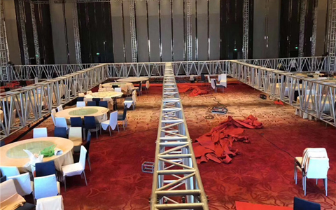 Indoor Aluminum truss system setup in 5-Start Hotels  2020 New Year Celebration